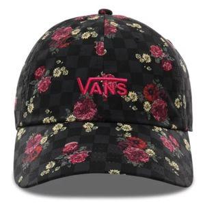 NWT Vans Checkerboard Floral Printed Hat